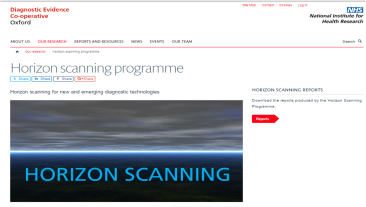 Oxford Diagnostic Horizon Scan Programme