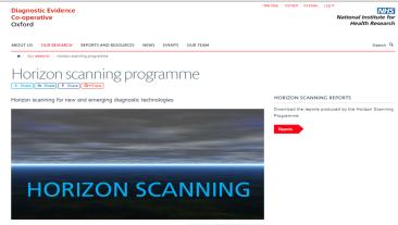Oxford Diagnostic Horizon Scan Programme